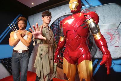 钢铁侠和金刚狼蜡像入驻杜莎夫人蜡像馆