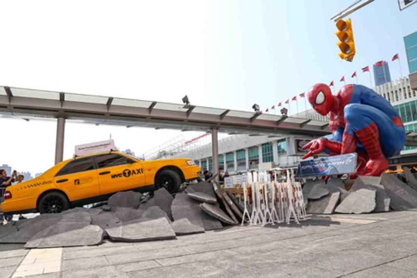 海港城化身经典电影场景为《蜘蛛侠2》在港公映造势