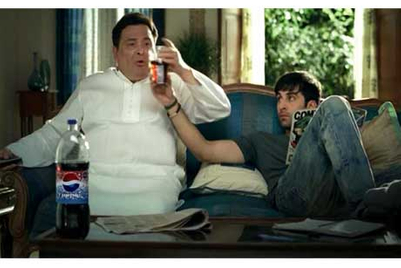 Rishi and Ranbir Kapoor feature in Pepsi's new campaign
