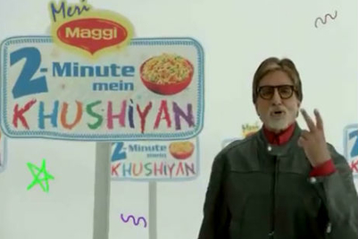 Big B will narrate your Maggi tales, in new campaign
