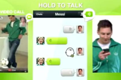 WeChat passes to Messi as it moves past 70 million int'l users