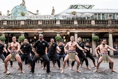 MMGB (2): Rugby World Cup 'legend' Jonah Lomu performs haka in London with MasterCard