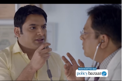 Policybazaar gets Kapil Sharma to educate doc, says check options before issuing health policy cheque