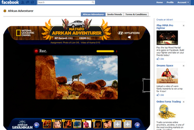 Hyundai and National Geographic Channel launch 'African adventurer' on Facebook