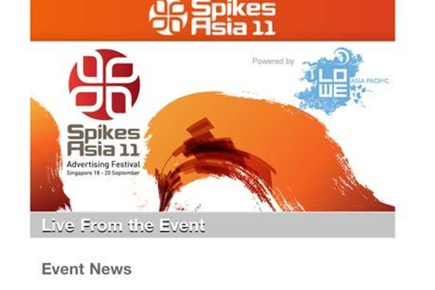 Spikes Asia 2011: Now available on an iPad near you