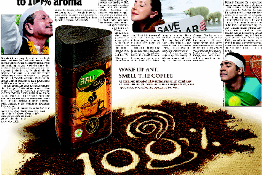 The half page ad that appeared in Sunday Times of India