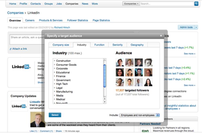 LinkedIn's Targeted Follower function