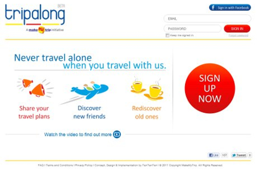 MakeMyTrip asks people to travel social with Tripalong