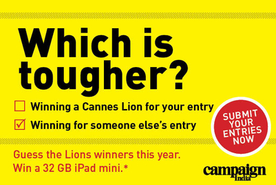 Cannes Lions 2013: Predict the winners and win a 32 GB iPad mini