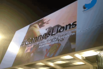 Cannes 2013: Spotted: the living billboard in Cannes