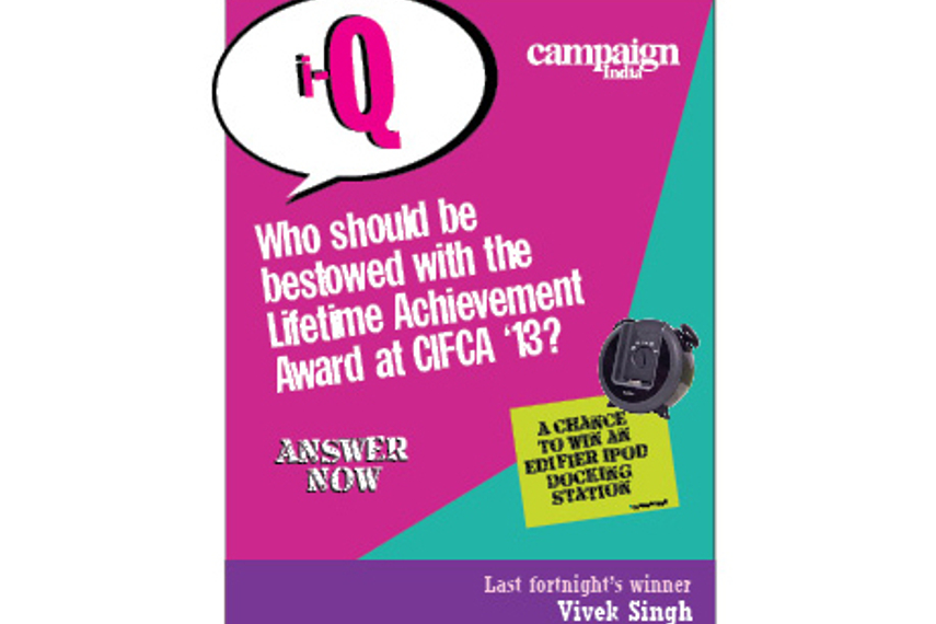 Who should be bestowed with the Lifetime Achievement Award at CIFCA '13?