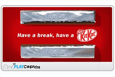 Nestlé replaces Captcha words with KitKat game