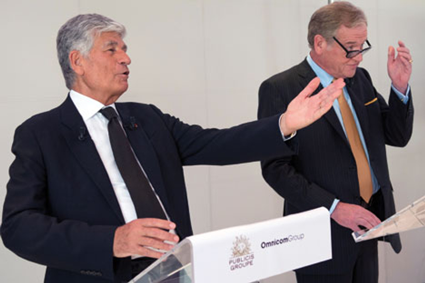 All together: Maurice Levy and John Wren effusing about the merger. What can go wrong?