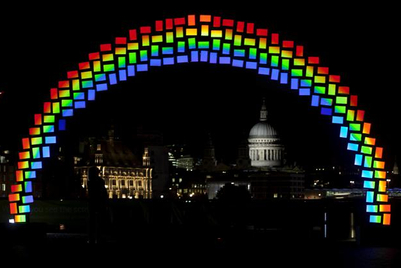 Samsung installs 'midnight rainbow' in London to promote Galaxy Tab S