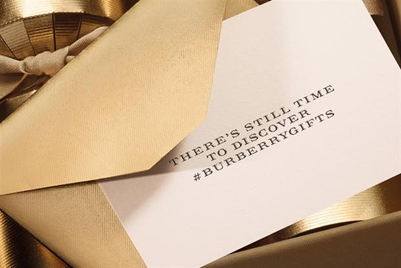 Burberry offers personalised Christmas gift advice on Twitter