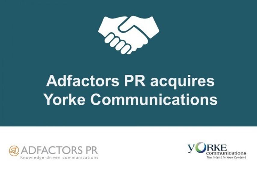 Adfactors PR acquires stake in Yorke Communications