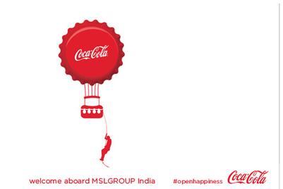 MSLGroup bags Coca-Cola India's PR mandate