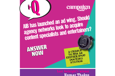 Campaign India IQ: AIB has launched an ad wing. Should agency networks look to acquire content specialists and entertainers?