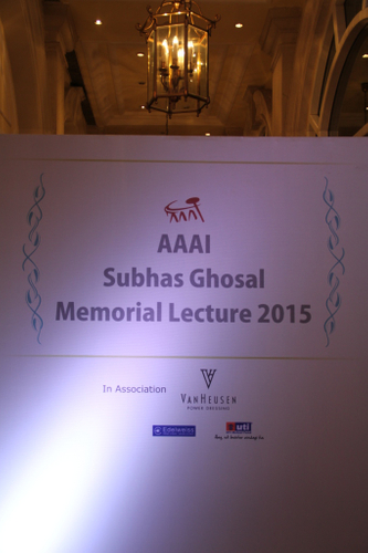 Images from the AAAI Subhas Ghosal Memorial Lecture 2015