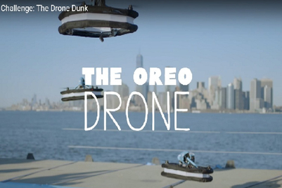 Weekend watch: Oreo uses drones to dunk cookies