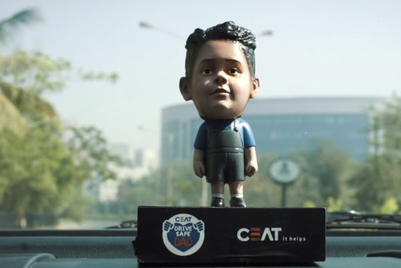 Ceat warns dads against speeding through bobble-heads of their children