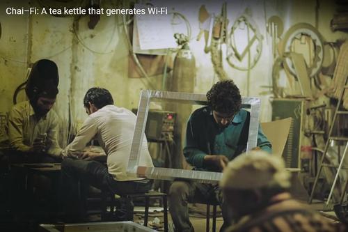 When a Chakra tea kettle generates wi-fi
