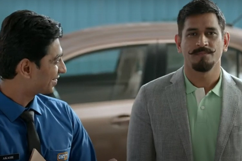 Cars24 gets the car seller MS Dhoni to meet buyer MS Dhoni