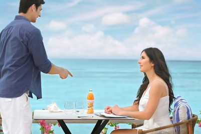 Slice takes on rivals as Katrina Kaif gets fan to take 'taste test'