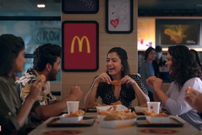 McDonald's shows Rashmika Mandanna and friends' addiction to McSpicy Fried Chicken