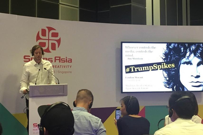 Spikes Asia 2016: 'Trump became news': Mindshare's Lyndon Morant