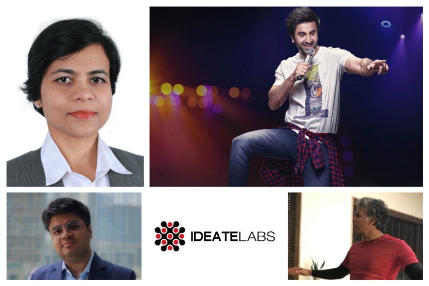 Clockwise from bottom left: Prashant Datta, Deepti Bhadauria, Ranbir Kapoor and Milind Soman