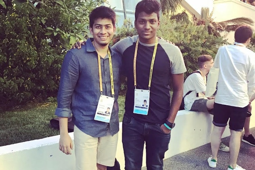 (L-R) Ketan and Adith at Cannes Lions 2017