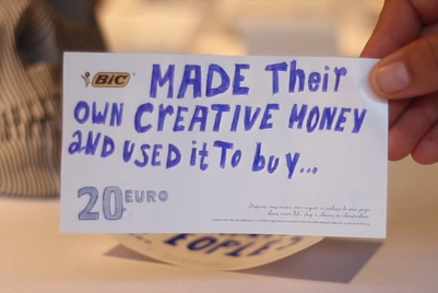 MMGB: BIC's 'Pay with creativity'
