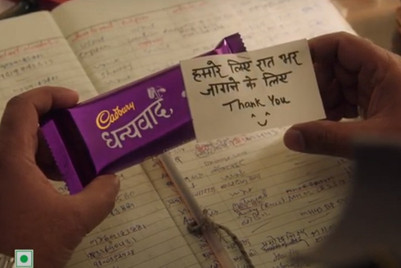 Cadbury Dairy Milk delivers thank you messages through change in packaging
