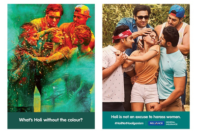 Reliance General Insurance bats for a safer Holi for women, free of hooliganism