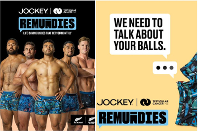 NZ All Blacks players ask men to check out their balls