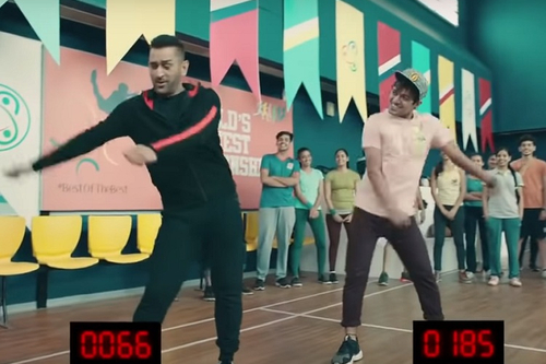 LivFast shows Dhoni lose out while doing the floss, skipping and clapping