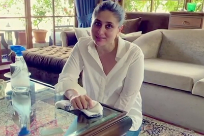 Lizol gets Kareena, Saif to spread public message to disinfect and clean surfaces