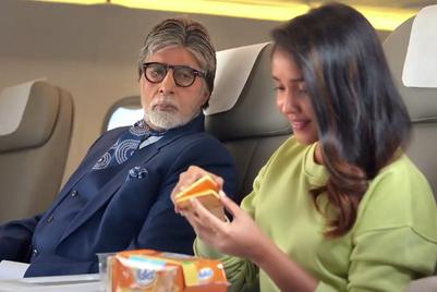 Amitabh Bachchan succumbs to Malkist's temptation