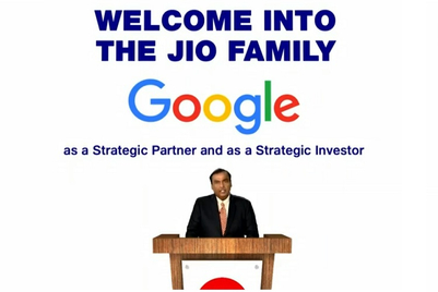 Official: Google to invest Rs 33,737 crore in Reliance Industries