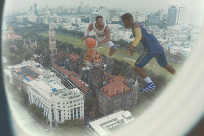 NBA plays glam and dunk in its maiden Indian film