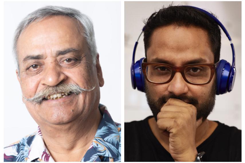 Piyush Pandey (left) and Rajdeepak Das