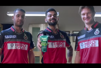 Himalaya Herbals gets RCB players to show that men hate pimples too