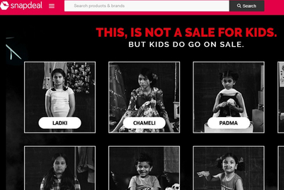 Snapdeal rolls out #KidsNotForSale in association with Save The Children