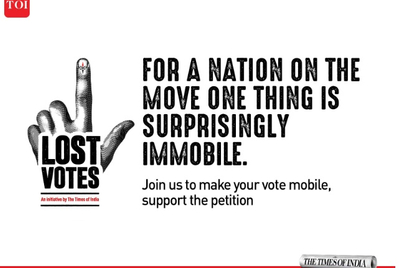 The Times of India looks to get those 'lost votes' back ahead of 2019 elections