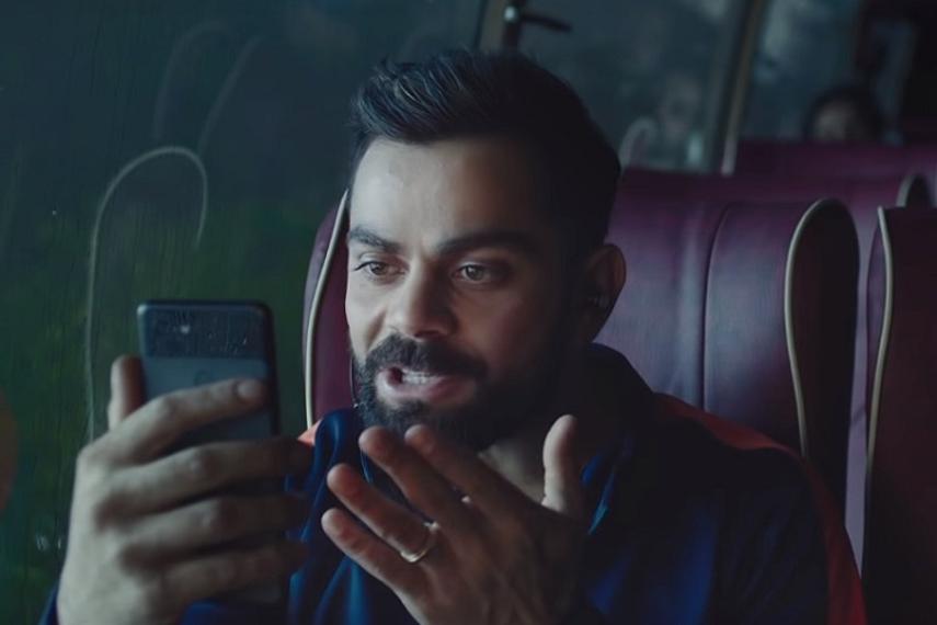 Virat Kohli in a Google film