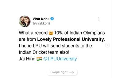 Blog: Virat Kohli bats for Lovely Professional University — are Twitterati over-reacting?