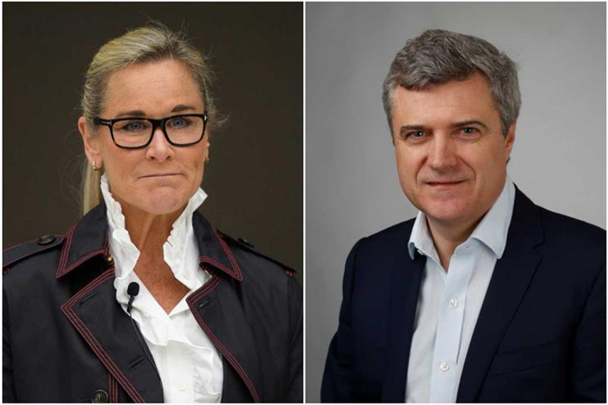 Dame Angela Ahrendts and Mark Read