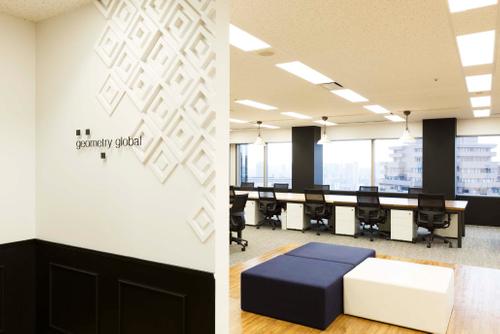 洗練されたオフィスに「ゆるキャラ」―ジオメトリー・グローバル・ジャパン