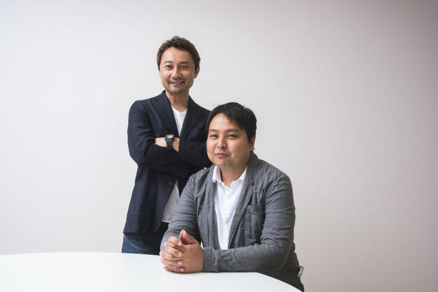 ブルーカレント・ストラテジー代表の永川芳仁氏(右)と、本田哲也氏